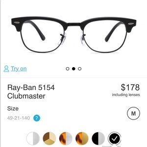 Rayban two set of prescription glasses frames